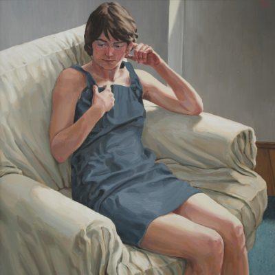 Il tappeto azzurro 1999 olio su tavola 85 x 85 cm. IMG 8189 ok 400x400 - Works archive