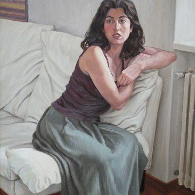 Il termosifone - 1999 - olio su tavola 90 x 80 cm