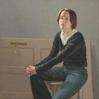 La porta - 2003, olio su tela 100 x 120 cm