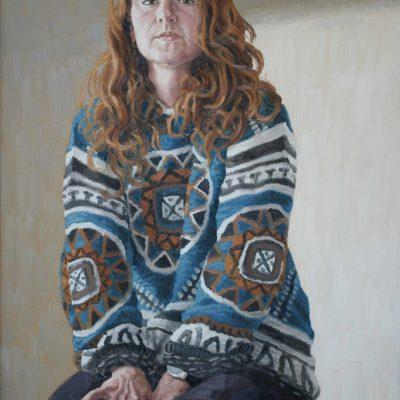 Maglione fantasia - 2000 - olio su tavola 80 x 60 cm