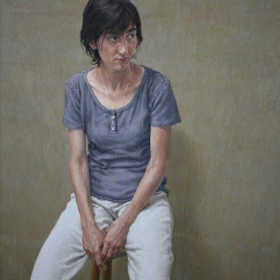 Pantaloni bianchi - 2002 - olio su tela 120 x 100 cm