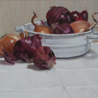 Parecchie cipolle - 1999 - olio su tavola 35 x 45 cm