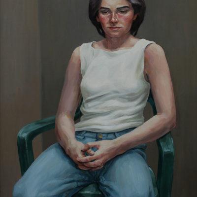 Sedia da giardino 1999 olio su tavola 80 x 60 cm. IMG 8242 ok 400x400 - Works archive