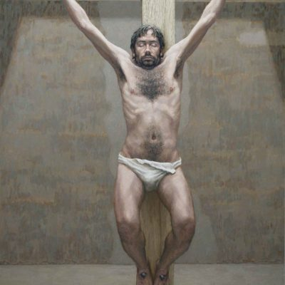 Spirò - 2001 - olio su tavola 180 x 130 cm