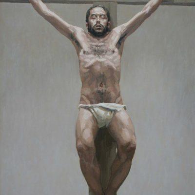Studio 1 per spirò - 2001 - olio su tavola 90 x 65 cm
