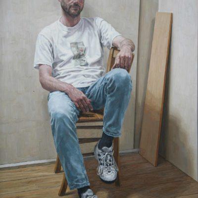 Tavola di compensato - 2001 - olio su tavola 140 x 100 cm