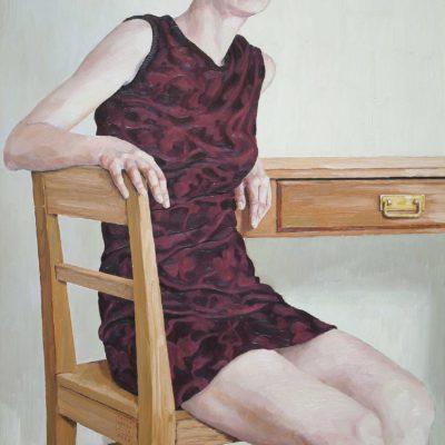 Tavolo con cassetto - 1999 - olio su tavola 90 x 60 cm