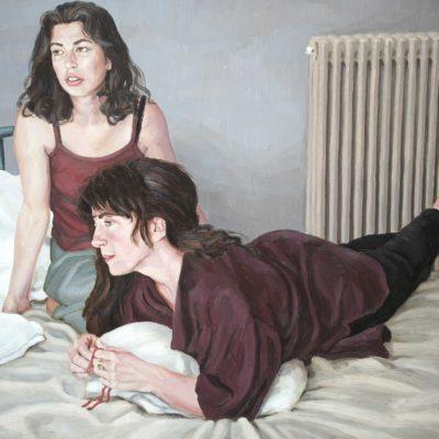 Tre cuscini - 2000 - olio su tavola 80 x 100 cm
