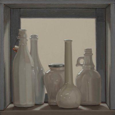 Vetro,-vernice-e-luce-2018,-olio-su-tavola-40-x-40-cm
