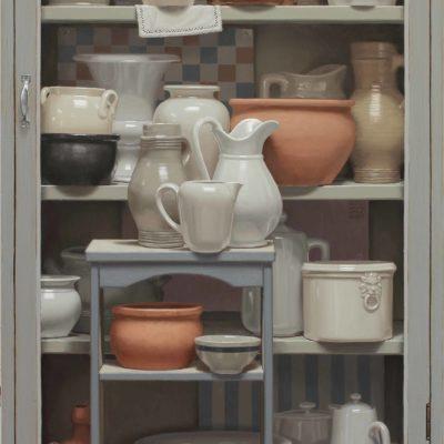 8 ceramiche amiche 2019 olio su tavola 180 x 100 cm 400x400 - 02.Opere