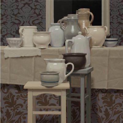 Elegiac elegance of turtledove 2020 olio su tavola 100 x 180 cm. F.G. 400x400 - Works archive