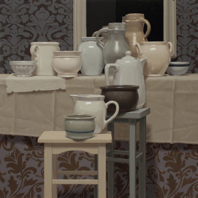 2 Elegiac elegance of turtledove 2020 olio su tavola 100x100 cm. IMG 4984ru 400x400 - 02.Opere