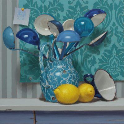 13 - Limon&blù - 2020, olio su tavola 50 x 50 cm. IMG_6795