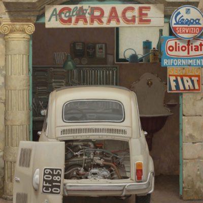 14 Araldos Garage 2020 olio su tavola 180 x 147 cm. IMG 7188ru scaled 400x400 - 02.Opere