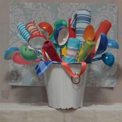 17 Atipico bouquet 2020 olio su tavola 60 x 60 cm. IMG 7468 scaled 400x400 - 02.Opere